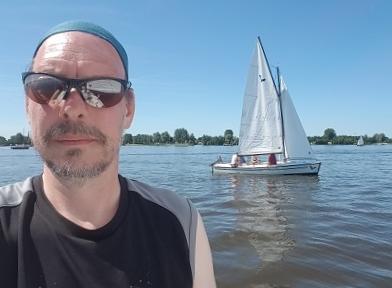Stefan Wendt auf dem Wasser
